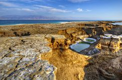 Sinkholes in Israel Stock Photos