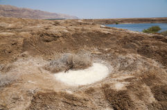 Sinkholes no Mar Morto Fotografia de Stock Royalty Free