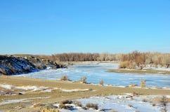 Sinkiang-Winter Lizenzfreies Stockbild