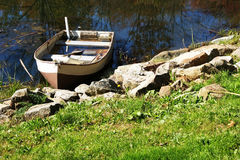 Sinking Boat Royalty Free Stock Photography