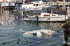 Sinking boat Stock Image
