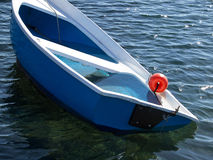 Sinking boat Royalty Free Stock Images