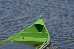 Sinking boat detail Royalty Free Stock Photography