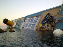 Sinking cruise ship Costa Concordia Stock Photography