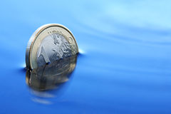 Sinking Euro Stock Photography