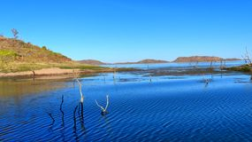Sinking Forrest Lake Argyle the jewel of the Kimberley Western Australia. Lake Argyle Western Australia is the second largest man made lake in  Australia Royalty Free Stock Image
