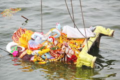 Sinking of Lord Ganesh on the day of Nimajjan Royalty Free Stock Images