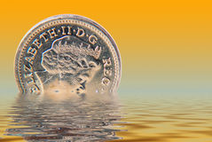 Sinking pound Royalty Free Stock Photo
