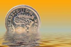 Sinking pound Royalty Free Stock Photo