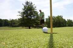 Sinking the Putt Stock Photography