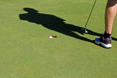 Sinking a Putt Stock Photography