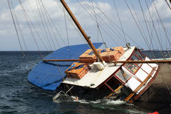 Sinking Schooner royalty free stock images