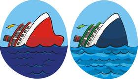 Sinking ship Royalty Free Stock Photography