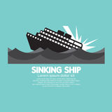 Sinking Ship Black Graphic Stock Photos