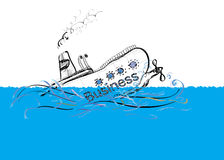 Sinking Ship Royalty Free Stock Photo