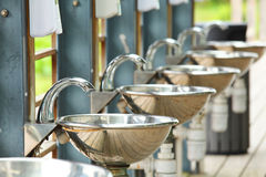Sinks and taps Royalty Free Stock Images