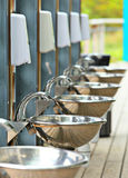Sinks and taps outdoor Stock Images