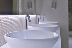 Sinks in the t oilet. Sinks in the toilet royalty free stock photography