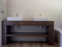 Sinks. Two sinks in the bathroom stock images