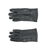 Sinlge black leather glove isolated. Over the white background, set of two different foreshortenings Royalty Free Stock Photos
