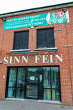 Sinn Fein Headquarter. In Belfast. This is a political party of Catholic side of Ireland Stock Image