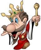 sinnad vektor för frånvarande konung Royaltyfri Foto