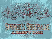 Sinner's serenade. Vintage old t shirt design Stock Images