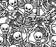 Sinners seamless pattern. Skeleton in Hell background. Ornament Royalty Free Stock Photography