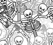 Sinners seamless pattern. Skeleton in Hell background. Ornament Royalty Free Stock Photos