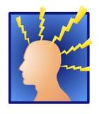 Sinnesleistung oder -kopfschmerzen lizenzfreie abbildung