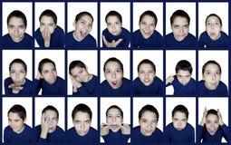 Sinnesrörelsepojke arkivfoton