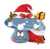 Sinnesrörelser för jultecknad filmframsida royaltyfri illustrationer
