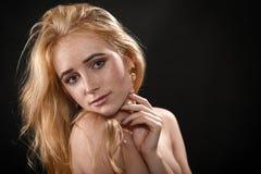 Sinnliche blonde Frau Stockfotos