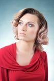 Sinnliche blonde kaukasische Frau Lizenzfreie Stockfotos