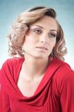 Sinnliche blonde kaukasische Frau Stockbild