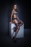 Sinnliche Frau mit idealem Körper Stockfotos