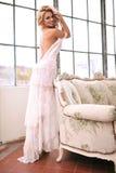 Sinnliche Frau mit perfektem Körper Lizenzfreie Stockfotografie