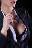 Sinnliche Geschäftsfrau des sexy Fehlschlags stockbilder