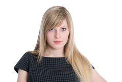 Sinnliche junge blonde Frau Stockbilder