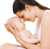 Sinnliche Mutter und Baby Lizenzfreie Stockfotos