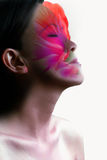 Sinnliche Schönheits-Schablone stockfotos