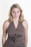 Sinnliche und elegante blonde Frau Lizenzfreies Stockfoto