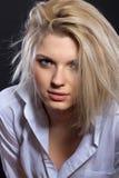 Sinnliches blondes Stockfotografie