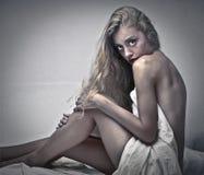Sinnliches blondes Mädchen Stockfotos