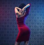 Sinnliches junges Flamencolehrerüben lizenzfreie stockbilder