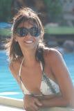 Sinnliches Mädchen mit Sonnenbrillen Lizenzfreie Stockfotos