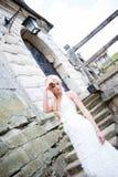 Sinnliches Porträt der schönen Braut stockbilder