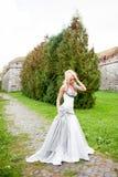 Sinnliches Porträt der schönen Braut stockfotos
