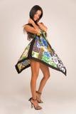 sinnlig klänningmodeflicka Royaltyfri Fotografi