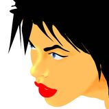 sinnlig kvinna för framsida Royaltyfri Fotografi
